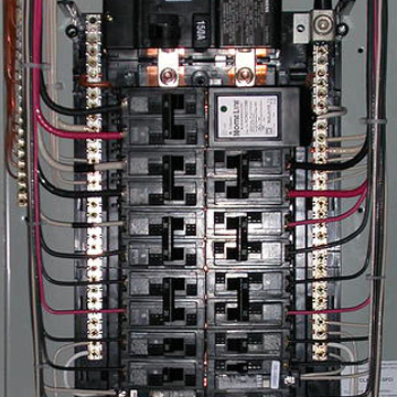electrical service panel installation and replacement. Black Bedroom Furniture Sets. Home Design Ideas